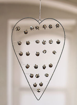 Hanging Heart with Bells Home Decor