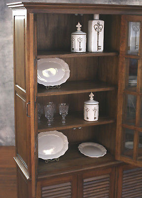 Buffet & Hutch Sideboard Dresser French Provincial Cedar Kitchen Unit 140cms