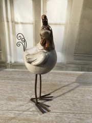 Rooster Ceramic Antiqued Style Farm Home Decor Gift Farmhouse Metal 24cms NEW