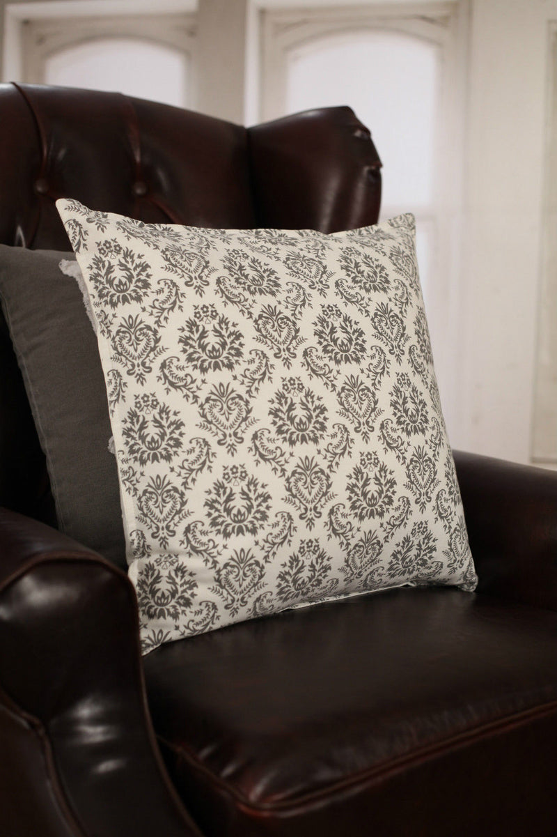 Decorator Cushion Cover 45x45cm Soft Grey Pattern Home Decor Throw Pillow NEW