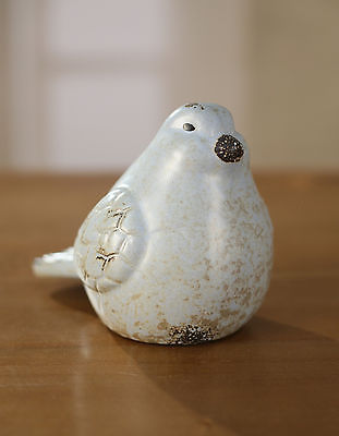 Bird Ceramic Antiqued Style Home Decor Gift Blue 15cms BRAND NEW