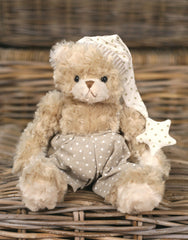 Teddy Bear 'Snoozy' Settler Bears Handmade Collectable Boy Gift Overalls 25cms