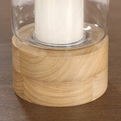 Lantern Hurricane Candle Holder Hardwood Indoor or Alfresco Premium Home Decor