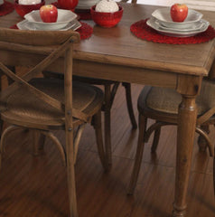 Dining Table 140x80cm French Provincial USA Oak Classic Sturdy Design BRAND NEW