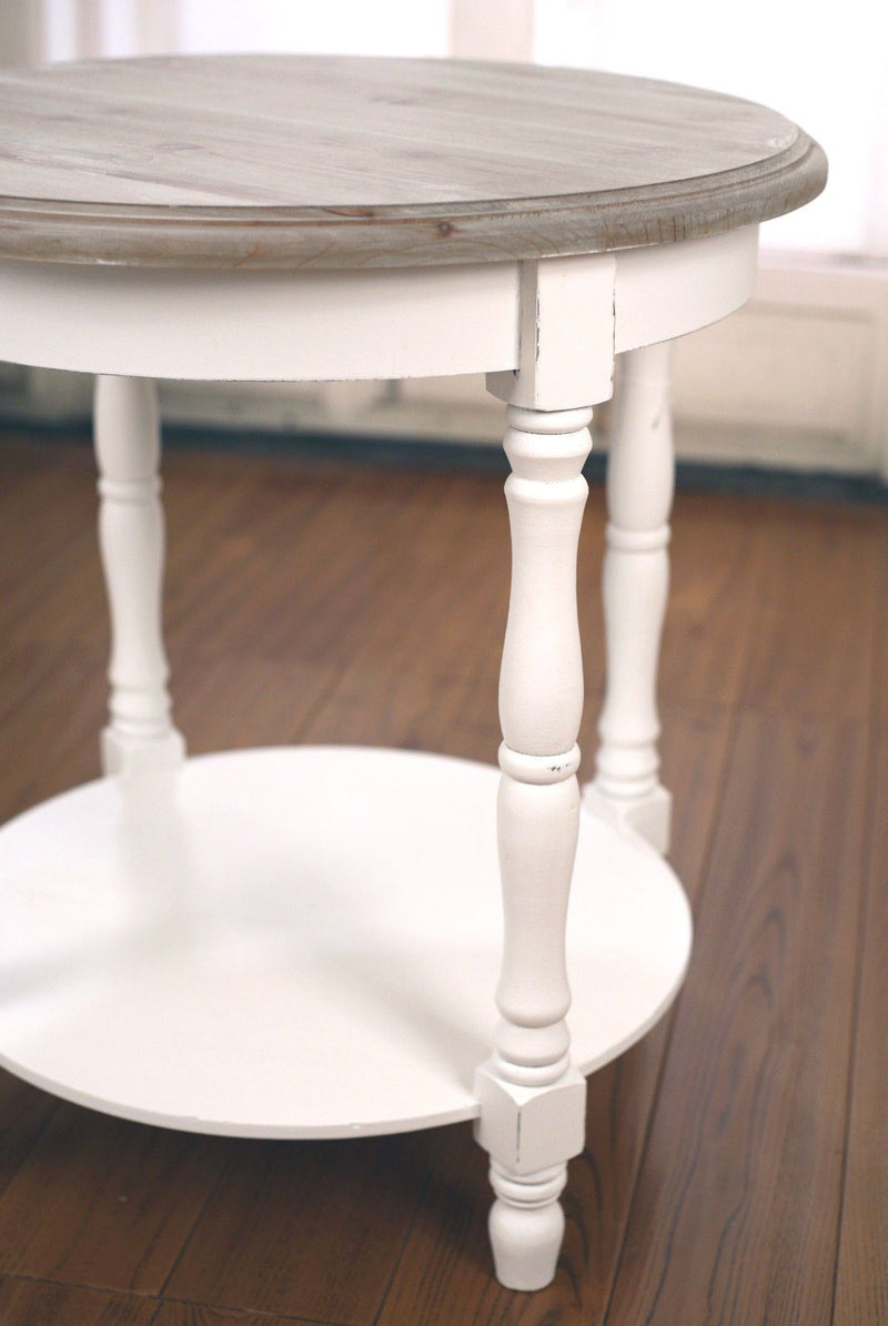 Lamp Table French Provincial Round Side Table