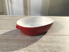 3 x Red Condiment Dishes Sauce Bowls Decor Bowls Serveware 15cms NEW
