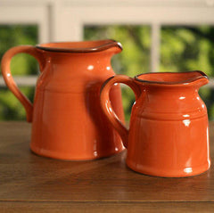 Rustic Decor Jugs Provincial Vase Home Decor Gift BRAND NEW 3 Colours Available (Orange,Large)