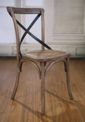 Dining Chair Cross Back French Provincial Birch Antique White