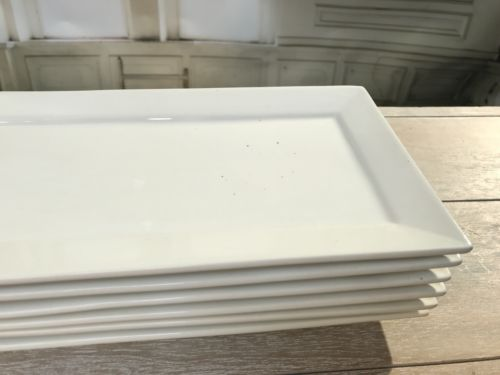 12 x Ceramic Trays Slight Seconds 30cm White Serveware Wedding Home Decor Set
