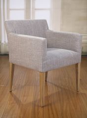 Dining Chair Carver Grey Linen French Provincial Oak Bedroom Armchair Furniture