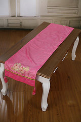 Table Runner Pink with Embroidery Pink Home Decor Party Decoration 150cms NEW