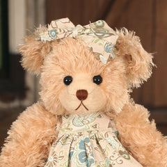 Teddy Bear 'Kirsty' Settler Bears Handmade Linen Dress Gift 43cms BRAND NEW