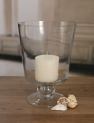 Glass Hurricane Candle Holder Home Decor BRAND NEW. Two Sizes