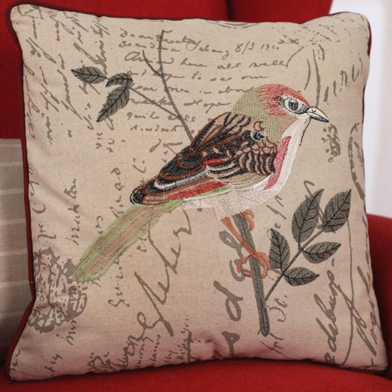 2 x Decorator Cushion Cover - Bird Script Throw Pillow Home Decor BRAND NEW