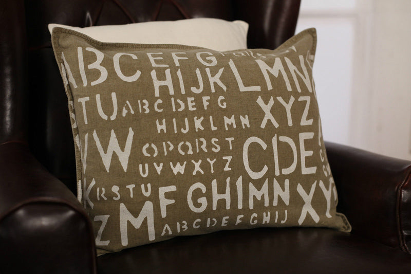 Decorator Cushion Filled 40x50cms Alphabet Touch Throw Pillow