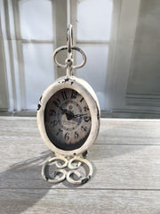 Desk Clock French Provincial Rustic Gift 'Paris' 23cms