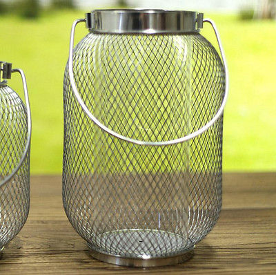 Candle Holder Lantern Mesh Metal Home Decor Homewares Gift NEW