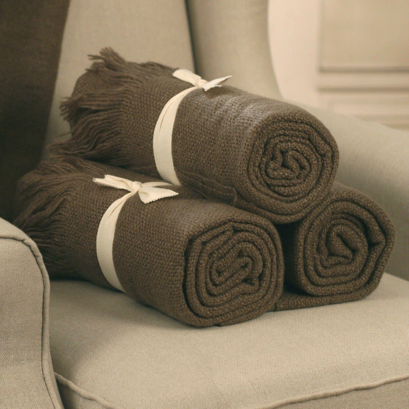 Throw Rug Soft Touch Blanket 127x150cms - CHARCOAL