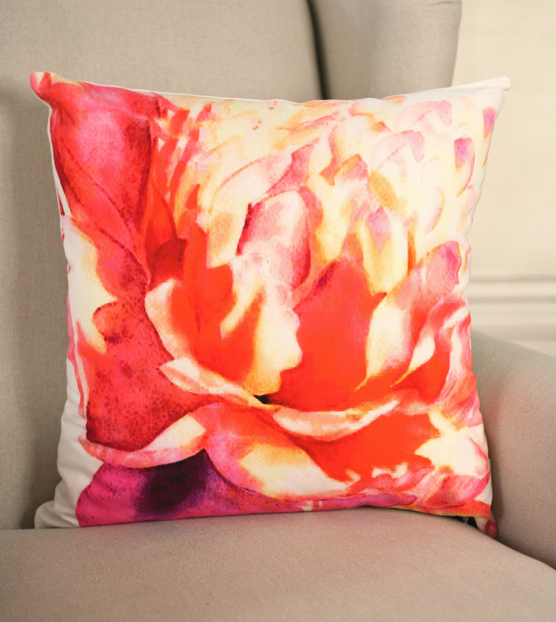 Decorator Cushion 45x45cms Vibrant Rose Throw Pillow