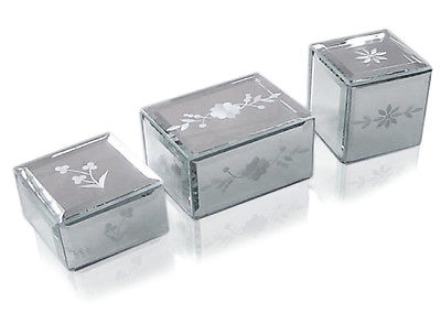 Venetian Trinket Boxes Jewellery Box Keepsake Gift Set of 3 Felt Lined BRAND NEW