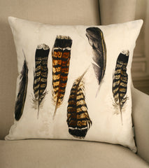 Decorator Cushion Cover 45x45cms Contemporary FeathersThrow Pillow Homewares NEW