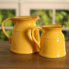 Rustic Decor Jugs Provincial Vase Home Decor Gift BRAND NEW 3 Colours Available (Yellow,Small)