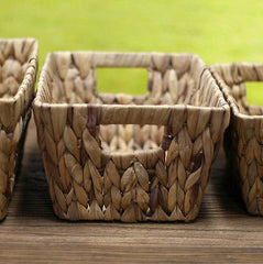Set of 3 Hand Woven Storage Baskets Home Decor