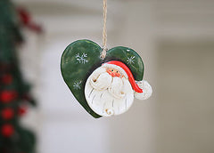 Christmas Ornament Santa Festive Hanging Tree Decoration Heart NEW