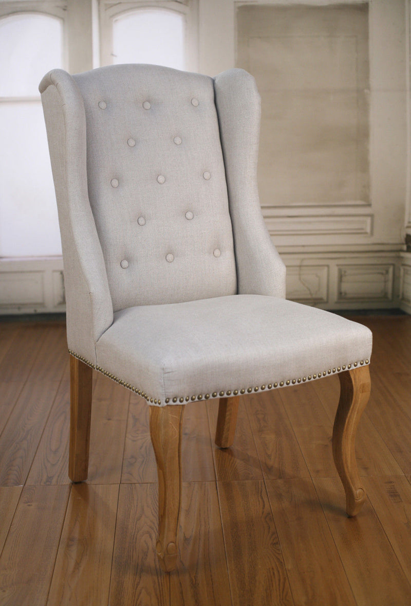 Dijon Dining Chair French Provincial Oak and Linen