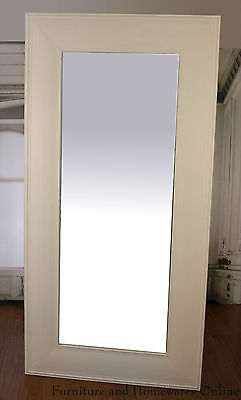 Mirror French Provinical Large Dressing Mirror 1x2m Antique White
