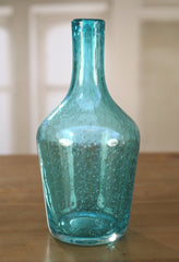 Vase Blue Canister Bubbles French Provincial Glass Home Decor Giftware 32cms