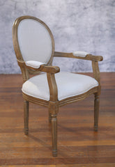Dining Chair Carver French Provincial Linen USA Oak Bedroom Chair Furniture NEW