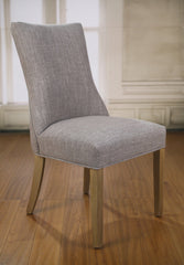 Dining Chair Linen Grey French Provincial Oak Button Chair Furniture Brand New