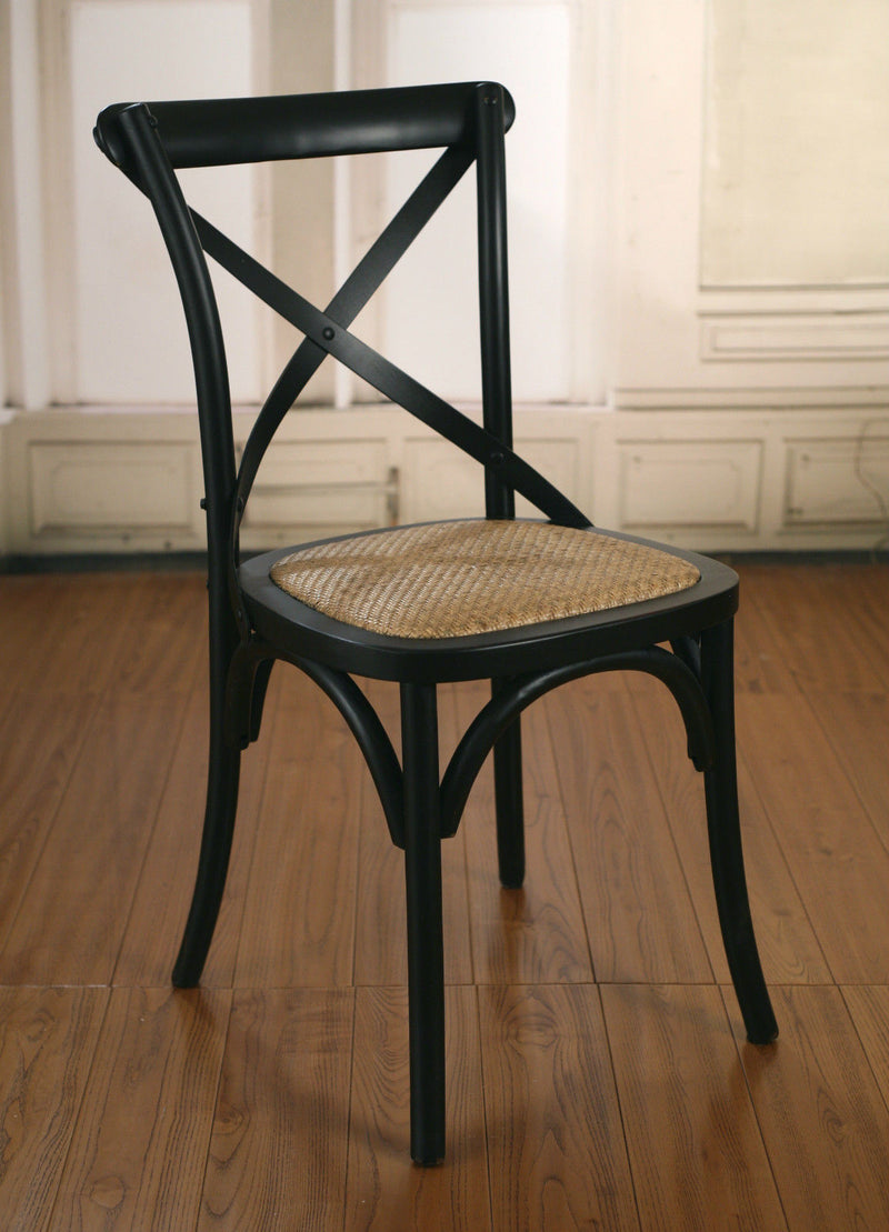 Charmont Dining Chair Cross Back Black Birch