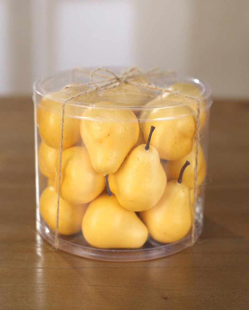 Artificial Pears Mini Tub Fake Fruit Faux Food Home Decor Kitchen Party
