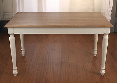 Dining Table 140x80cm French Provincial USA Oak Dining Table Turned Legs NEW