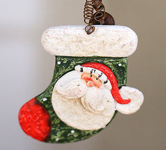 Merry Christmas Ornament Santa Festive Merry Hanging Stocking Tree Decoration