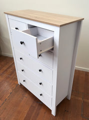 Tallboy Chest of Drawers 'Provence' 7 Drawer 120cms High