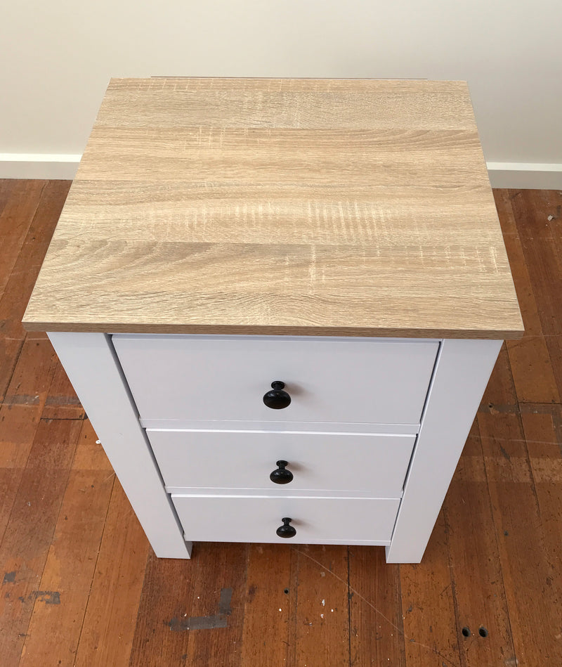 Bedside Table French Provincial 3 Drawer