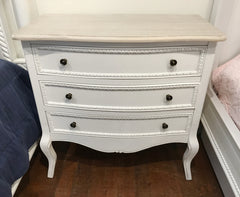 Chest of Drawers French Provincial 3 Drawer Antique Top Dresser