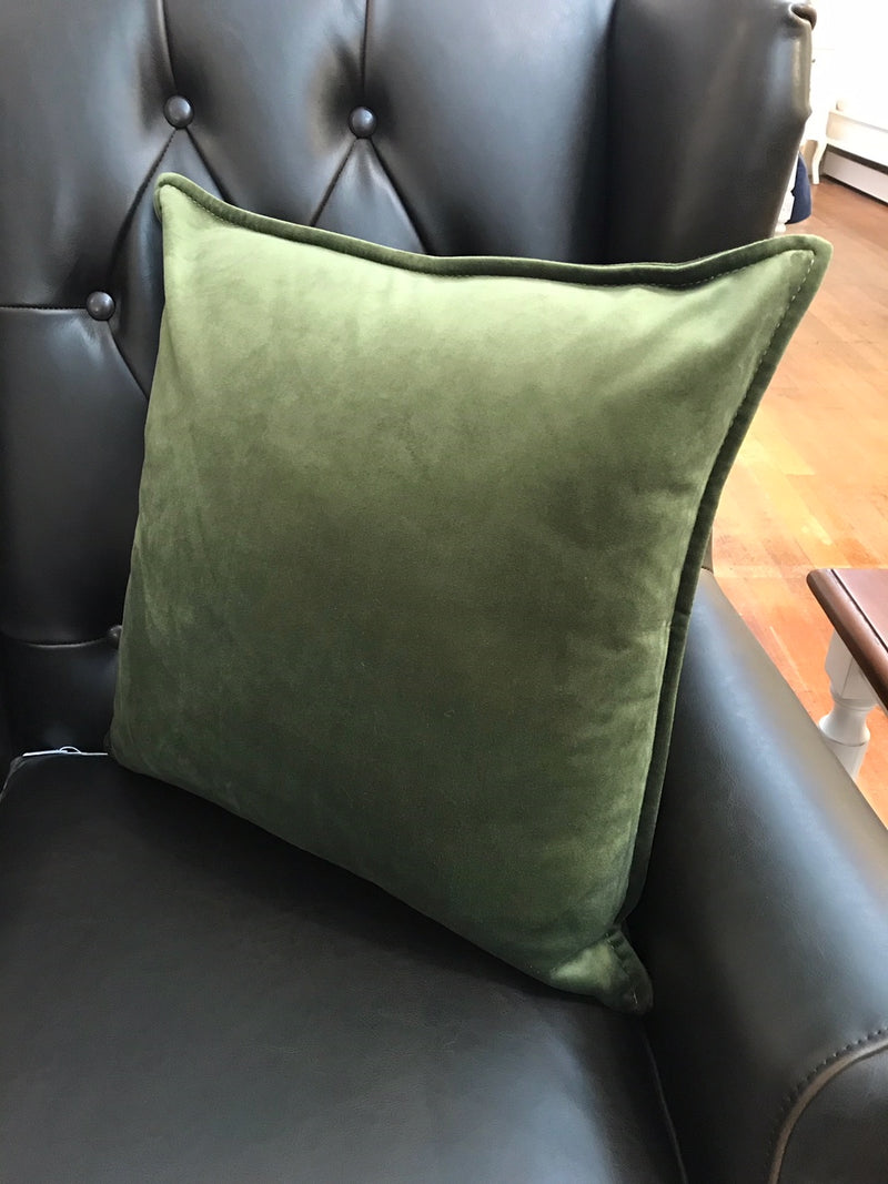 Velvet Cushion Filled 50x50 - Green