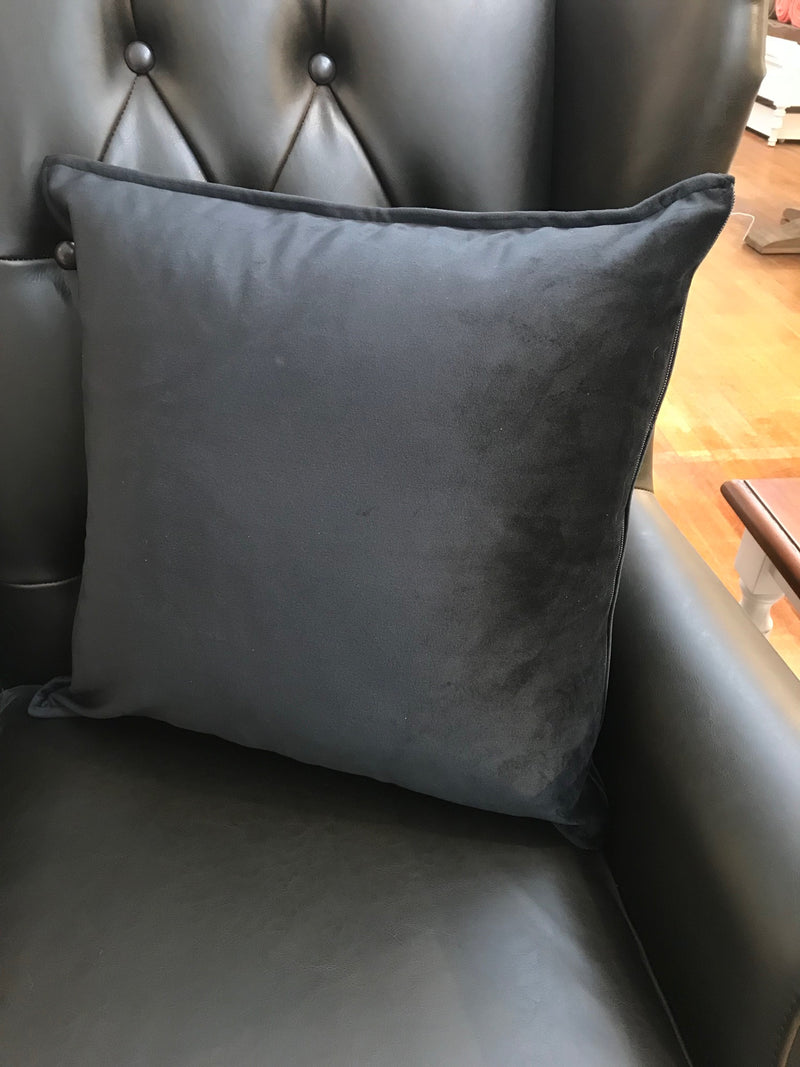 Velvet Cushion Filled 50x50 - Black