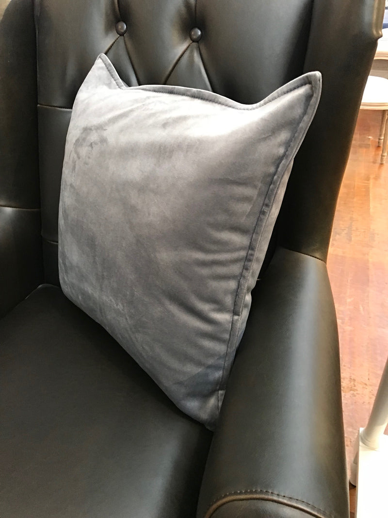 Velvet Cushion Filled 50x50 - Grey