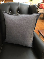 100% Linen Cushion Filled 55x55 - Charcoal Linen