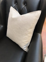 Linen Cushion Filled 50x50 - Natural Linen