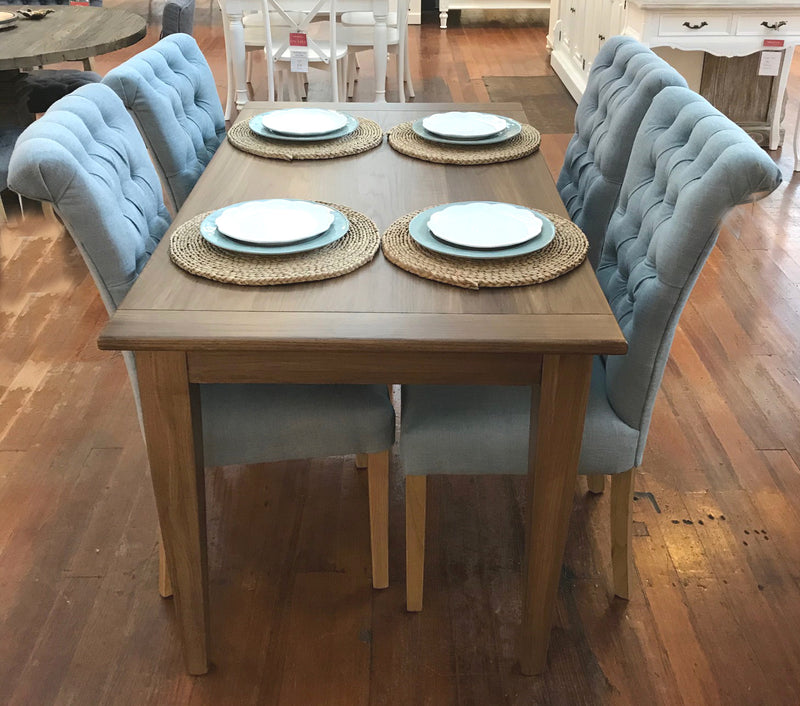 Setting 5 PIECE USA Oak Dining Table & Chairs Package Black 140x80cm