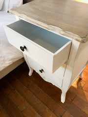 Pre-order: Maison Bedside Chest Grey Wash 3 Drawer