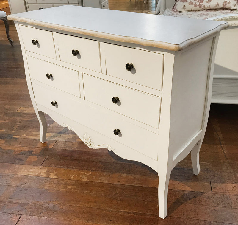 Chest of Drawers 'Provence' 7 Drawer 130cms wide