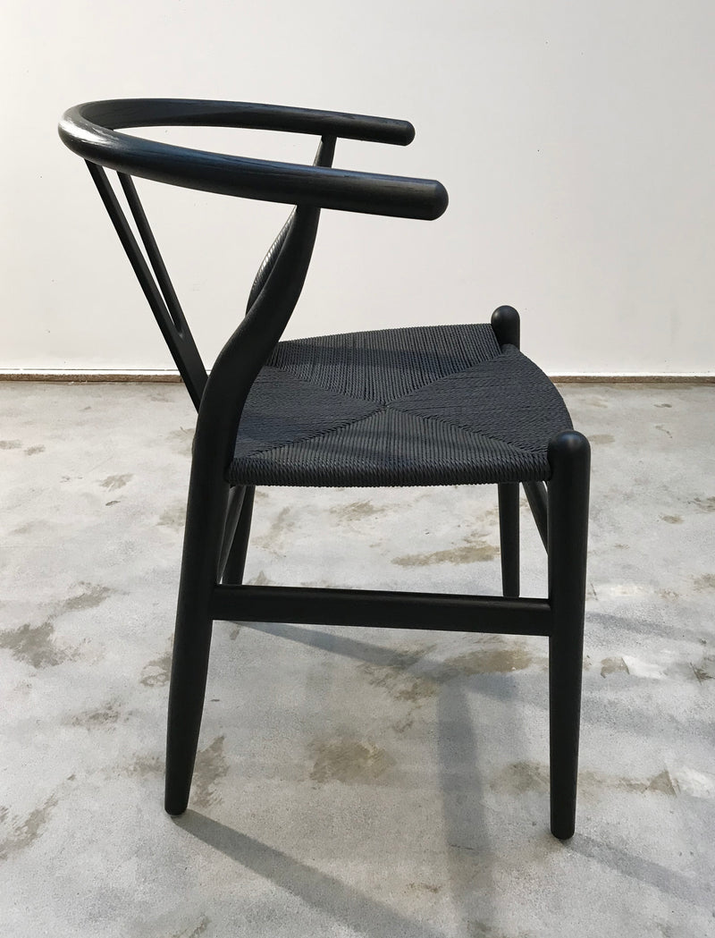 Dining Chair Black Hans Wegner Replica Wishbone Chair