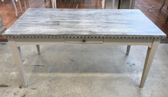 -Floor Stock- 5 Piece Dining Table 'Charmont' Setting Grey